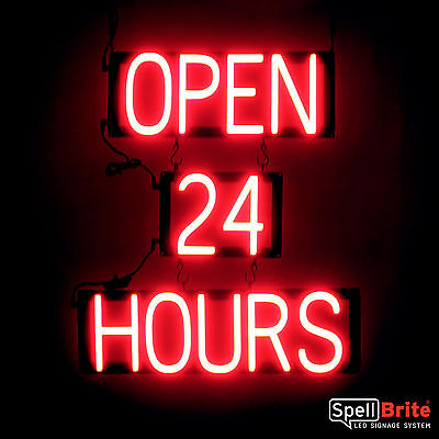 Spellbrite Ultra-bright Open 24 Hours Sign Neon-led Sign Neon Look Led Power