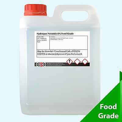 Food Grade Hydrogen Peroxide 6% 2 Litre (2L)  **Postage Included**
