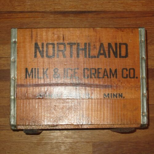Vintage Nothland Milk and Ice Cream Wooden Crate Minneapolis MN