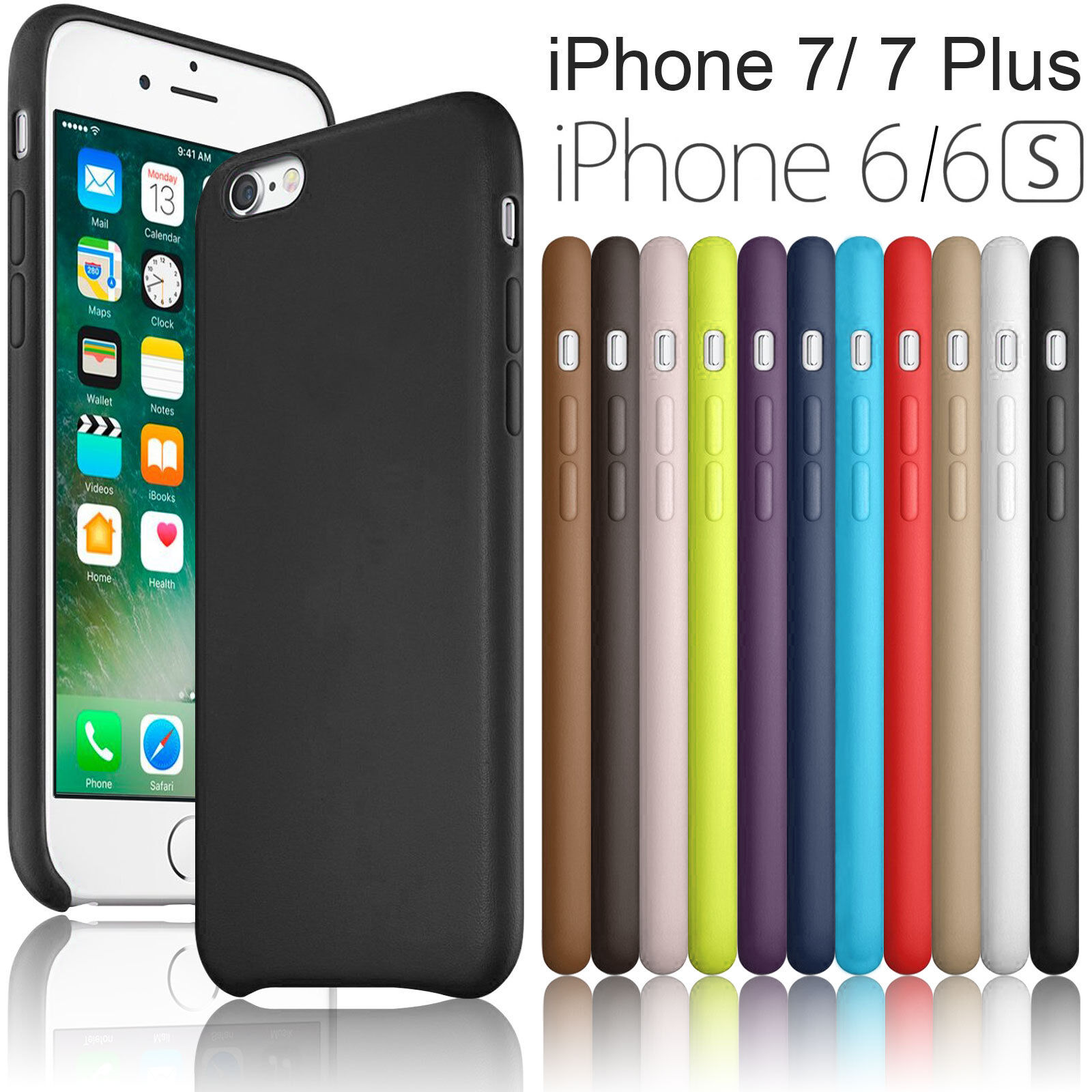 $5.95 - Slim Luxury PU Leather Ultra-thin Back Case Cover For Apple iPhone 6/6S/ 7 Plus