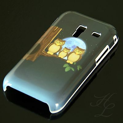 Samsung Galaxy Ace Plus S7500 Hard Handy Case Hülle Cover Etui Mond Eule Owl, usado segunda mano  Embacar hacia Argentina