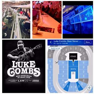 LUKE COMBS - LOGE LEVEL - BEST SEATS - JUST IN FRONT OF STAGE!