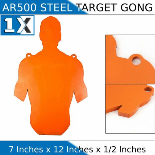"AR500 Steel 7"" x 12"" x 1/2"" Slaymaker Rifle Targets Shooting Plate Gong Pistol"