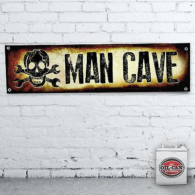 MAN CAVE  GARAGE Banner  –  heavy duty for workshop, garage, mancave