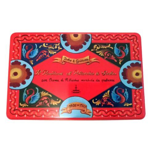 DOLCE & GABBANA Collector Large Cake Panettone Red Tin + New Spreader FIASCONARO