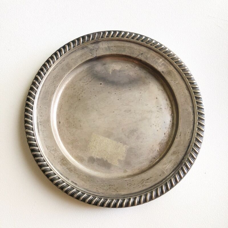 Reed And Barton Steling Silver X205 Bread Plate Hawthorn Pattern 1952