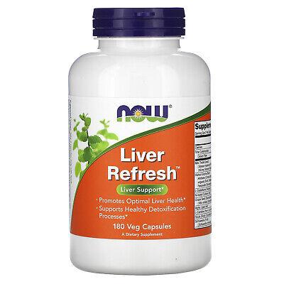 Now Foods Liver Refresh 180 Veg Capsules GMP Quality Assured