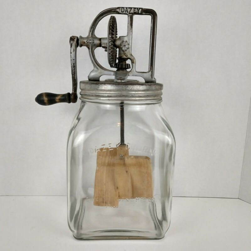 Vintage Dazey Butter Churn No 40 Rustic Kitchen Decor 1920s St.Louis Mo