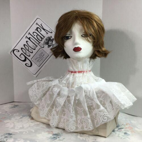 White lace Jabot  COLLAR pirate Gothic Lolita Victorian Steampunk red tie 4923