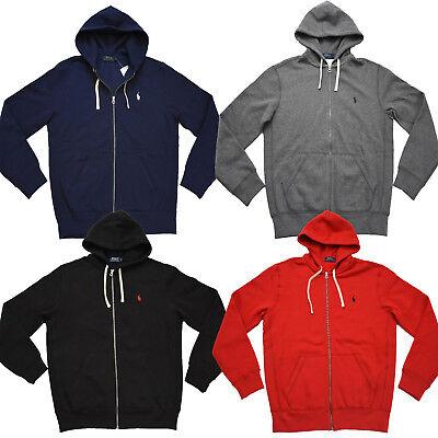 Men Polo Ralph Lauren FULL ZIP Hoodie FLEECE Lining Sweatshirt Jacket Size S-XXL