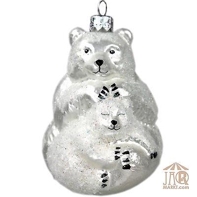 Árbol de Navidad Adornos - Figuras Animales Cristal - Oso Nieve