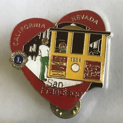 Older Lions Club International Pin MD 4 California Nevada- 1984 San Francisco