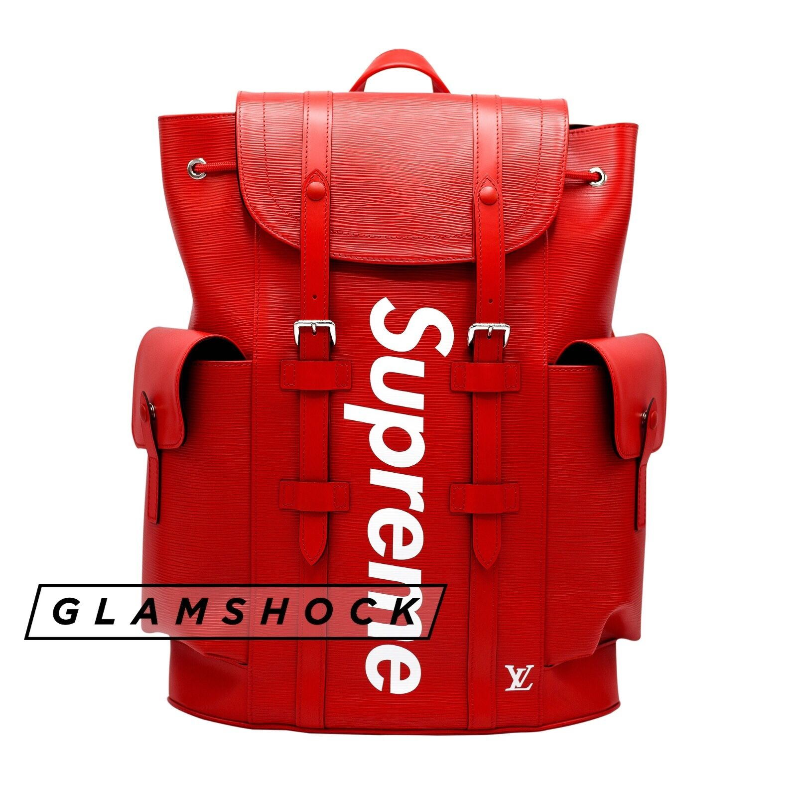 Lv Supreme Red Leather Backpack- Fenix Toulouse Handball 65f8a92e5c94f