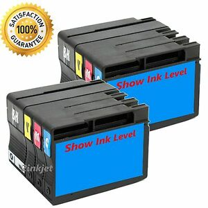 8 pack 932xl 933xl ink fits hp officejet 6100 6600 6700 w chip show ink level ebay. Black Bedroom Furniture Sets. Home Design Ideas