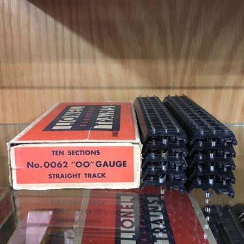 Lionel OO / 00 Gauge 0062 Dealer Pack Ten Straight Track Sections (3 Rail) LNOB