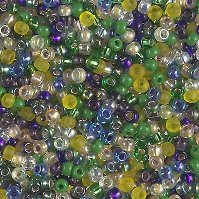 - 8/0  Wild Iris Mix Miyuki Glass Round Seed Beads 10 Grams