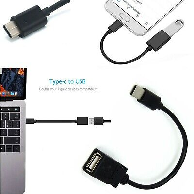 USB Type C Male Plug to USB Female OTG Cable Lead Adapter Android Tablet Phone