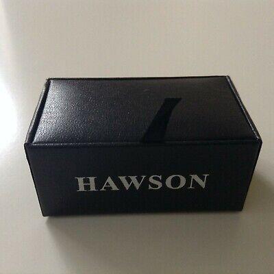 """Boutons manchette Hawson modèle """"Fleur de lys"""", dans leur boîte"""