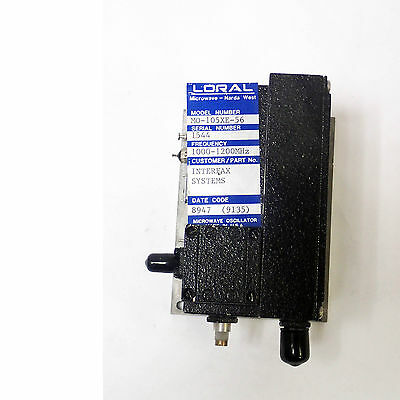 Loral Microwave Narda West Mo-105xe-56 Oscillator Frequency 1000-1200 Mhz