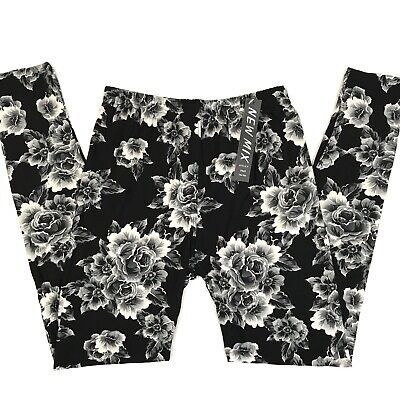 New Mix Womens High Waist Super Soft Buttery Leggings Floral Print OS Floral Print Leggings