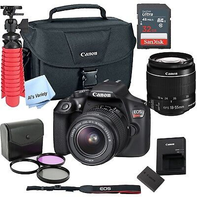New Canon Rebel T6 SLR Camera Premium Kit w/ 18-55 Lens, bag, SD Card