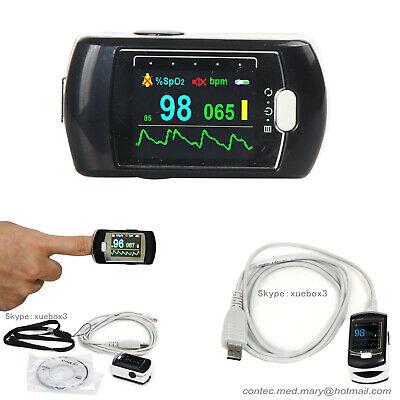 Usa Shipping Blood Oxygen Pulse Rate Oximeter Usb Pc Software Spo2pr Cms50ea
