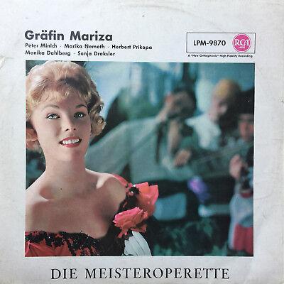 Gräfin Maritza - Minich-Nemeth-Prikopa-Dahlberg-Draksler - RCA -  Vinyl LP F15