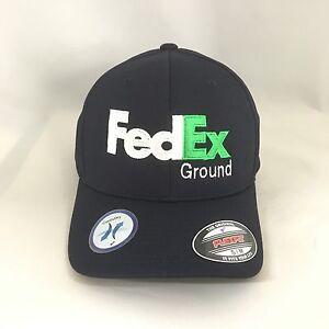 FedEx Ground Flexfit Hat Yupoong Cool&Dry Pique Mesh Cap Dark Navy L/XL