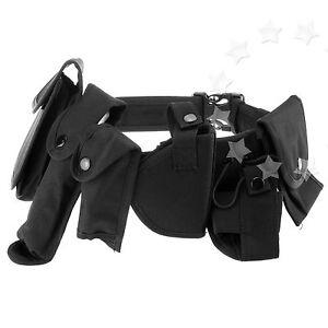 Men Tactical 7pcs Patrol Belt & Pouch System Prison Guard Utility Kit Security