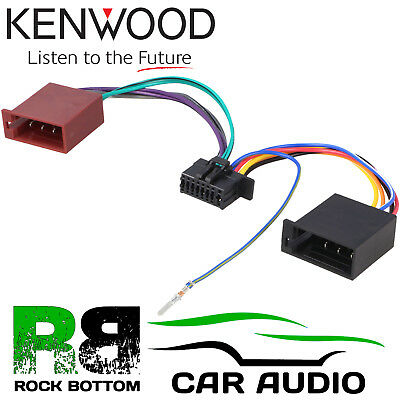 Kenwood KDC-210UI Car Radio Stereo 16 Pin Wiring Harness Loom ISO Lead Adaptor