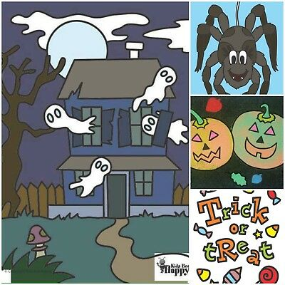 Kids Bee Happy Halloween Craft Activity Sand Art Picture Pack  ()