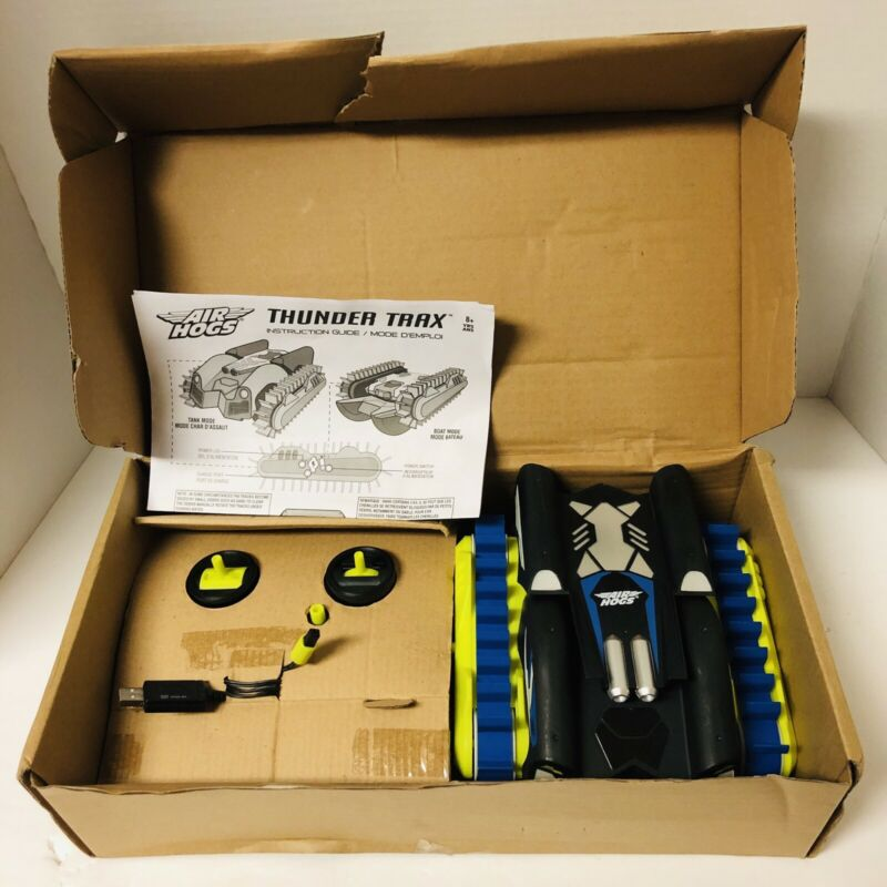 Air Hogs Thunder Trax RC Vehicle - Tank to Boat - Water & Land - NEW OPEN BOX
