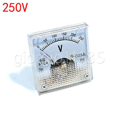 Us Stock Dc 0250v Square Analog Volt Pointer Needle Panel Meter Voltmeter 91c4