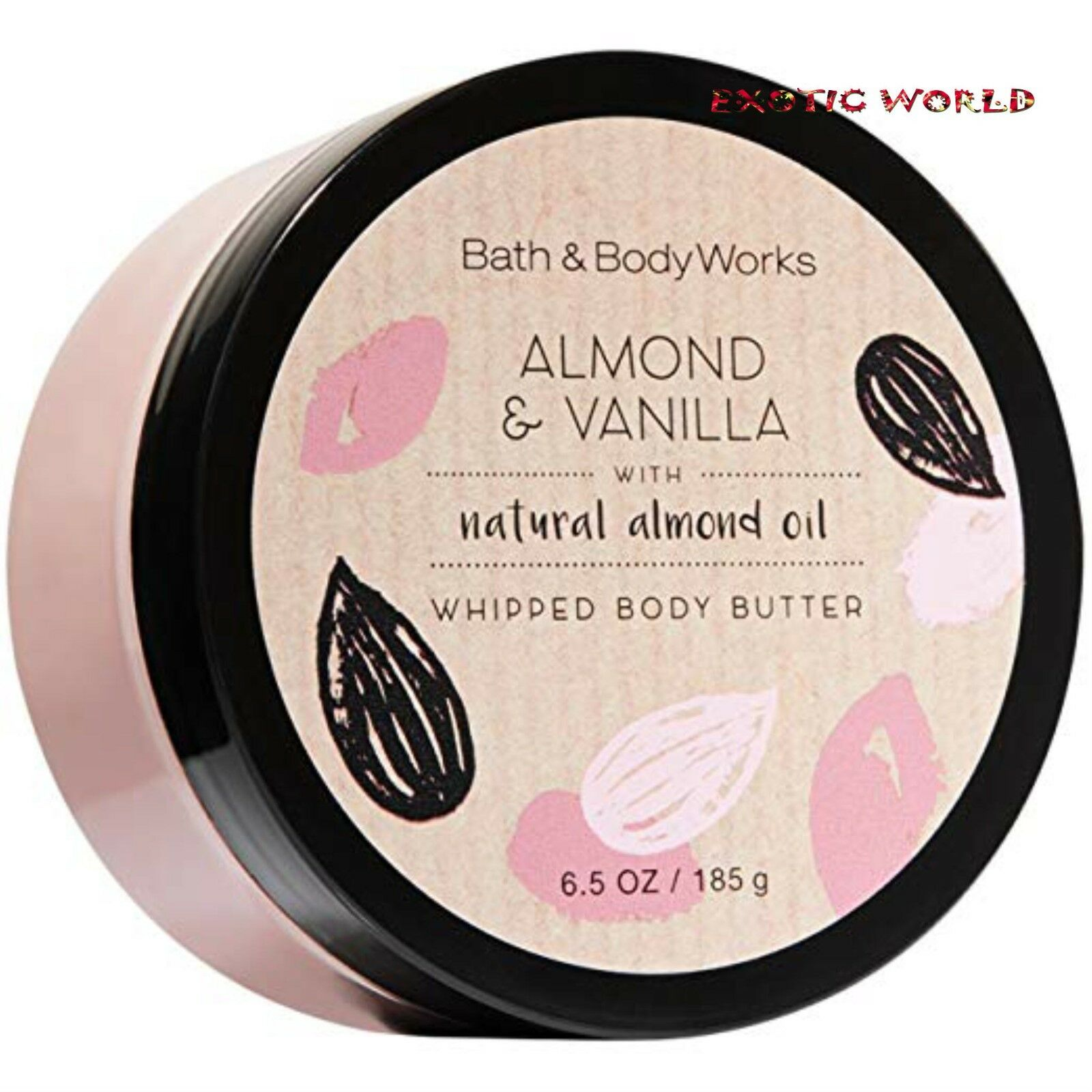 BATH AND BODY WORKS ALMOND & VANILLA BODY BUTTER  6.5 OZ