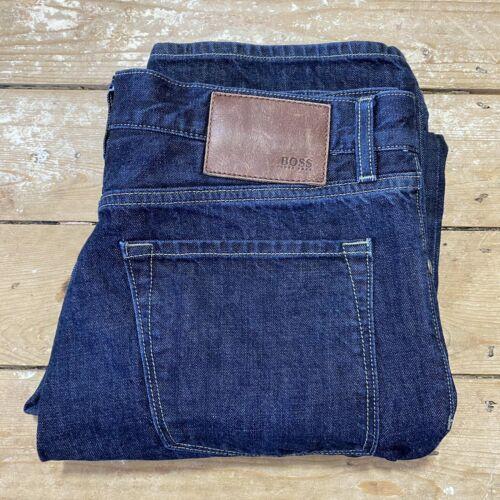 Hugo Boss Maine Jeans 36 X 34 Dark Blue