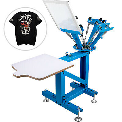 Screen Printer Screen Printing Machine 4 Color 1 Station For T-shirts