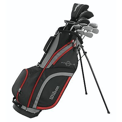 Wilson Profile XLS Men's RH Outrageous Graphite Steel Golf Club Stand Bag Package Set
