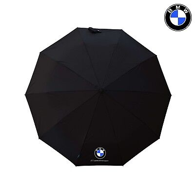 Premium Quality BMW Umbrella Folding Automatic Genuine Accessories Black Brolly