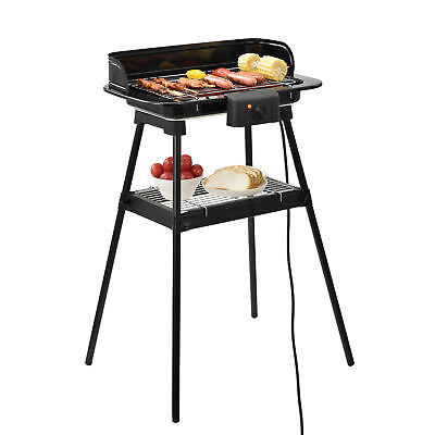 Elektrischer Standgrill 2200W Balkongrill Elektrogrill Barbecue Grill