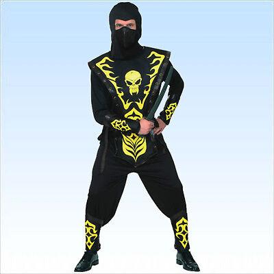 Ninja Kostüm 9 - teilig Gr. 50-54 Schwertkämpfer Ninjakostüm Faschingskostüm (Schwert Kämpfer Kostüm)