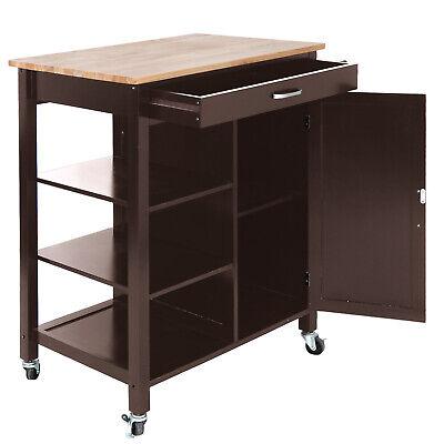 Rolling Kitchen Cabinet Cart Rolling Island Cookware Storage Organizer Island