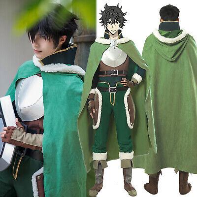 The Rising of The Shield Hero Naofumi Iwatani Cloak Cape Boots Cosplay (The Shield Costume)