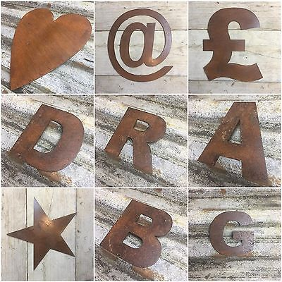 "5"" letters metal lettering rusted rustic vintage christmas decoration present"