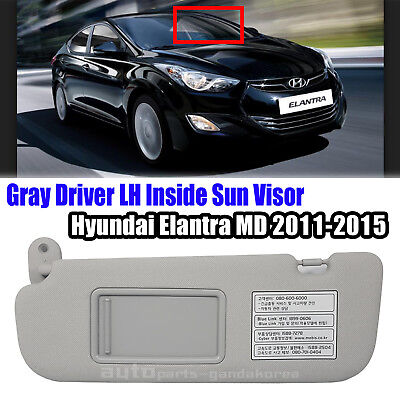 852103X000TX Sun Visor Insider Driver Left Gray For Hyundai ELANTRA MD 2011-2015