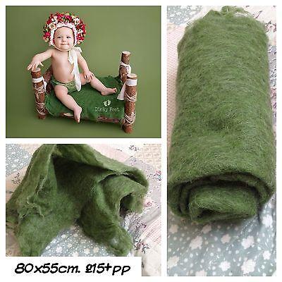 Green Felted Blanket Poser Layer Stuffer Newborn Photo Prop Baby  Christmas