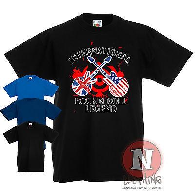 International Rock N Roll Legend Childrens Kids T Shirt 3 13 Years Festival Cool