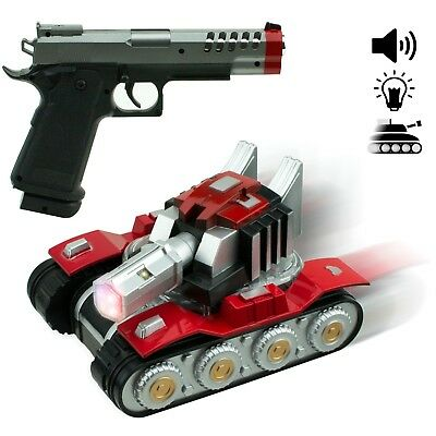 Bump and go RC car Army Tank with Gun Vehicle Perfect Gift for Boys and Girls - Girls For Gunslinger