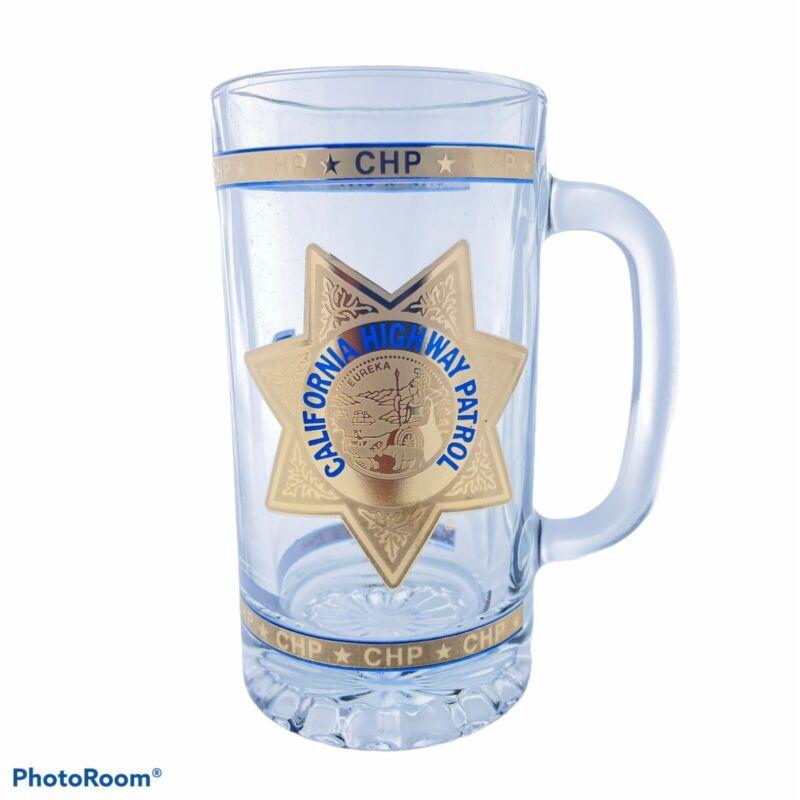 California Highway Patrol CHP New Glass Beer Mug 16 Ounces