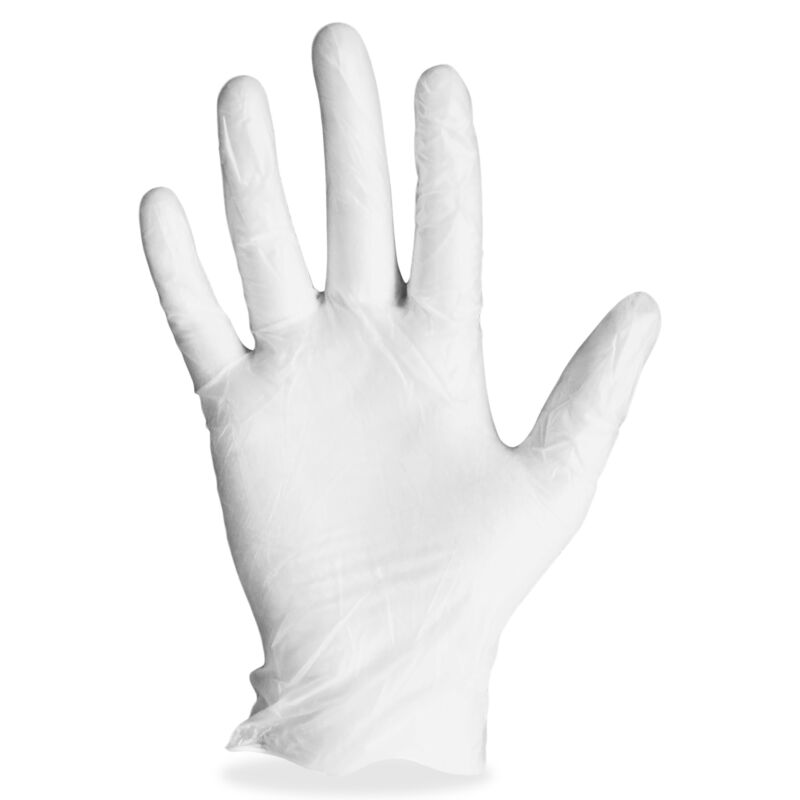 ProGuard Vinyl Gloves Powdered Small 4 mil 100/BX Clear 8606S
