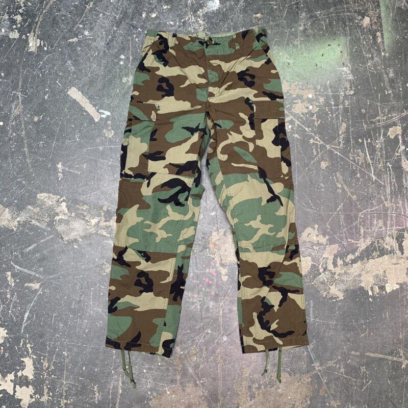 Medium Regular Woodland Trouser Military Camo Cargo Pants 00s BDU Army Named